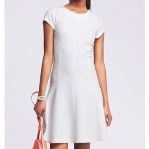 Banana Republic white fit and flare dress